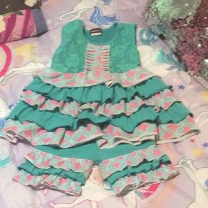 Other - Ruffles  little girls short outfit. Size 5-6
